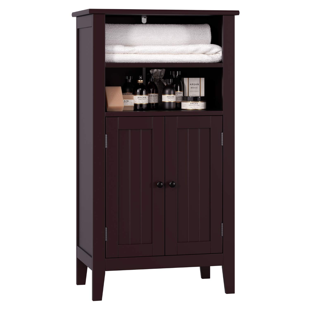 Amazon.com: Homfa Bathroom Floor Cabinet Wooden Storage