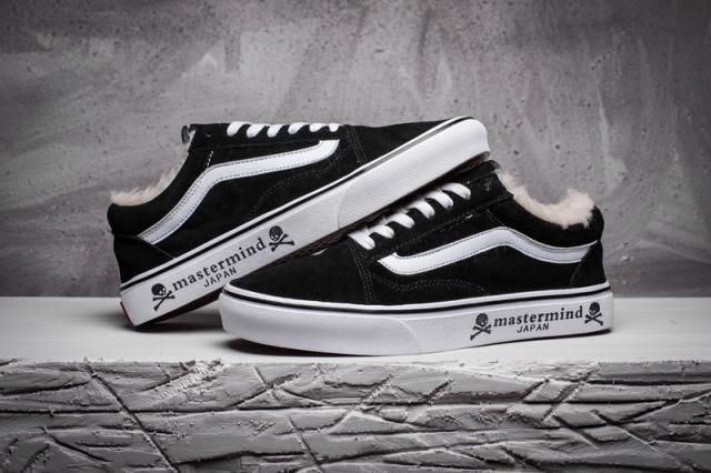 4b3cfd3418 VansMastermind Japan x Vans OS Plus Velvet Suede Old Skool Classic Black  Mens True-White Shoes  Vans