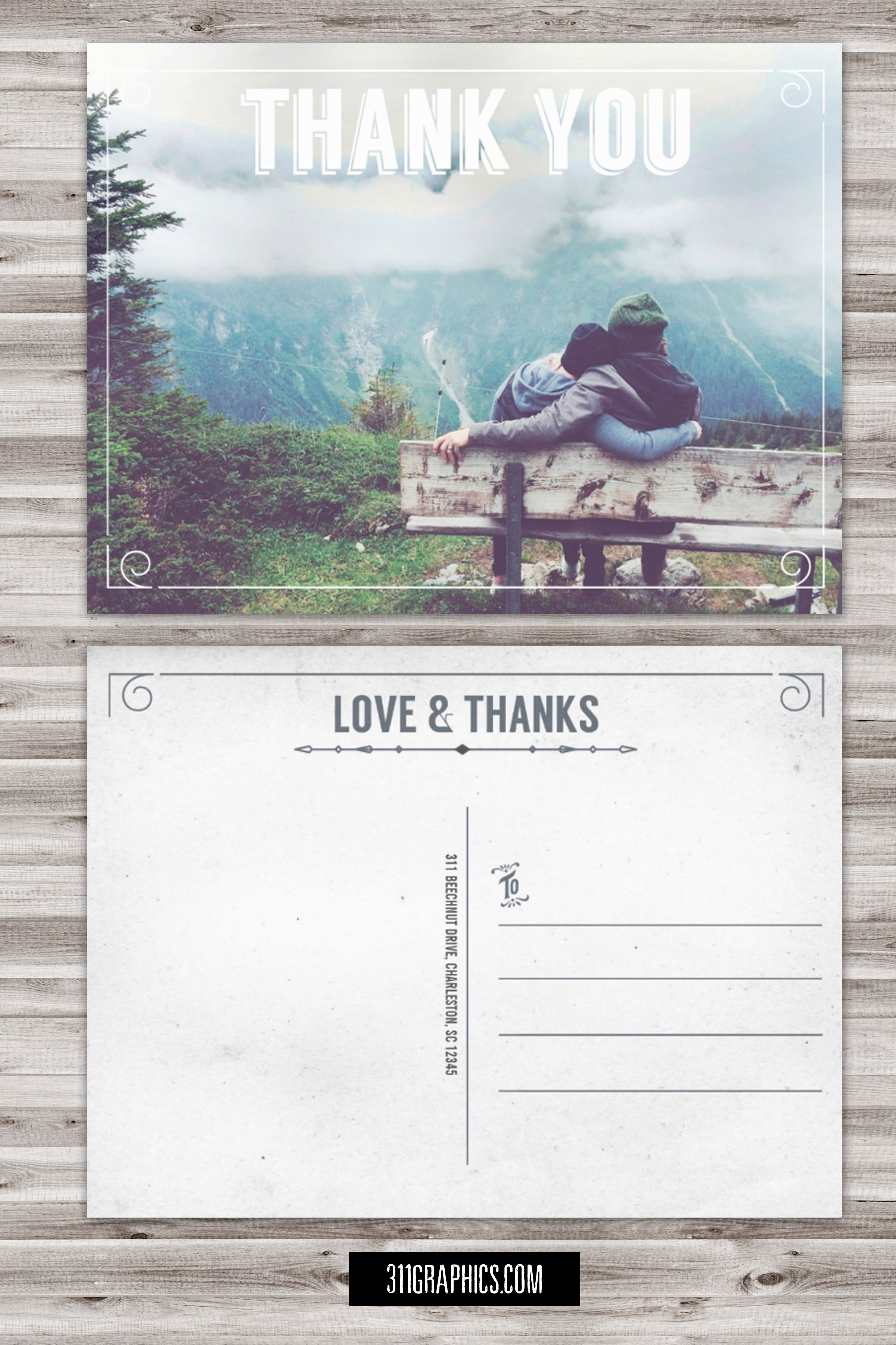wedding custom thank you cards%0A thank you postcard  wedding postcard  thank you card  couples thank you  postcard