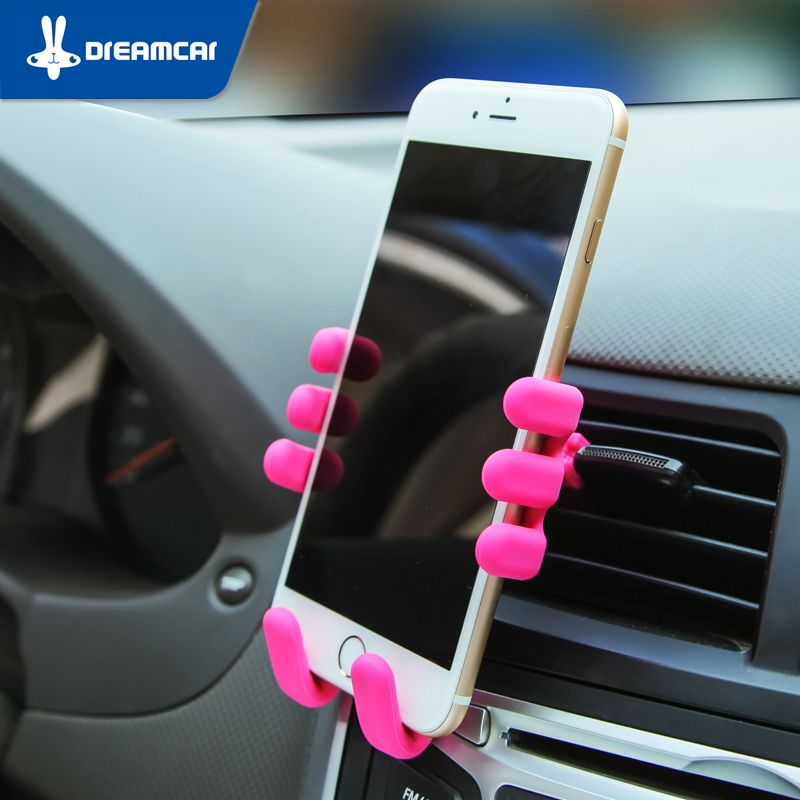 Silicone Mobile Phone Car Holder Air Vent Phone Holder Car ...