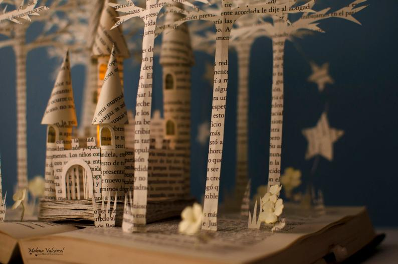 Fairytale Castle – Book Sculpture – Book Art – Altered Book – Made to Order