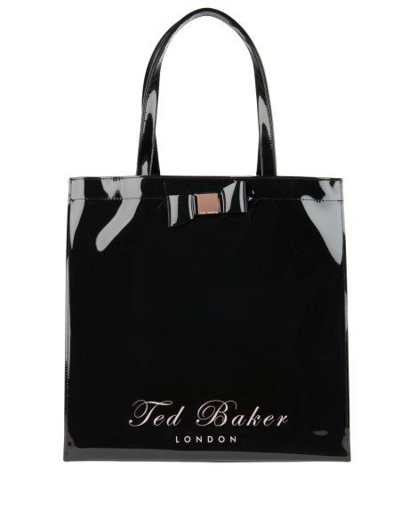 388865154e2 BECON | LARGE SQR BOW ICON BAG - Black | Bags | Ted Baker | Ted ...