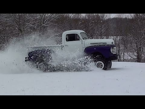1948 Ford F1 4x4 Playing in the Snow
