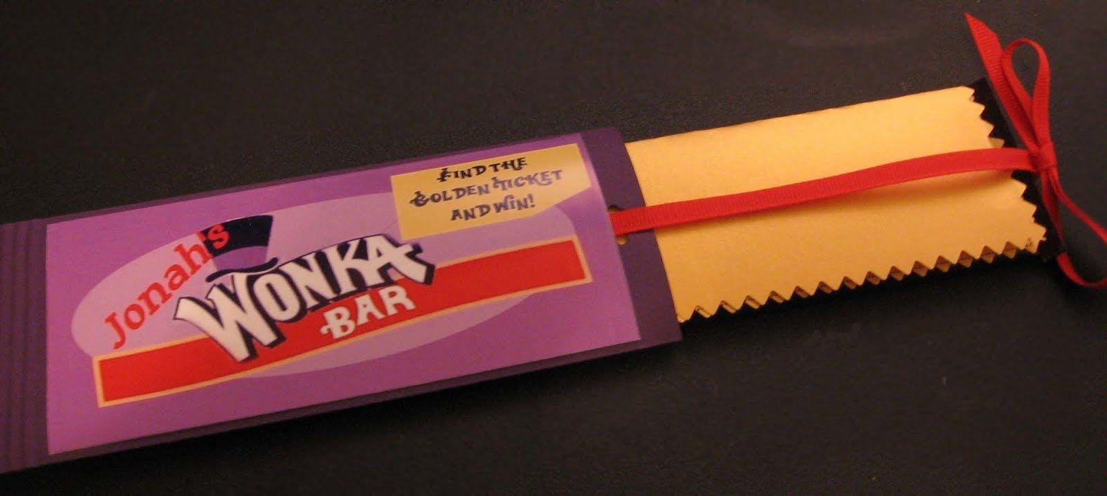 Willy Wonka Candy Bar Wrapper Template | Wonka Ideas | Pinterest