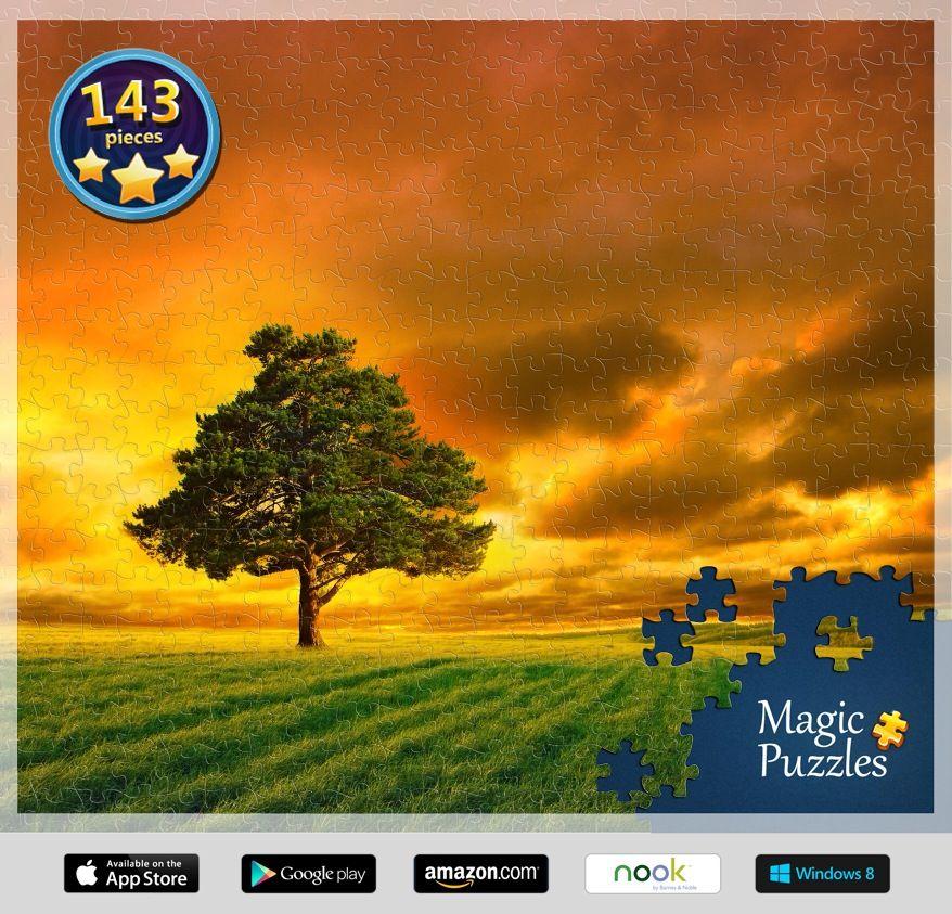 Beautiful tree at sundown! Magic puzzles, Image storage