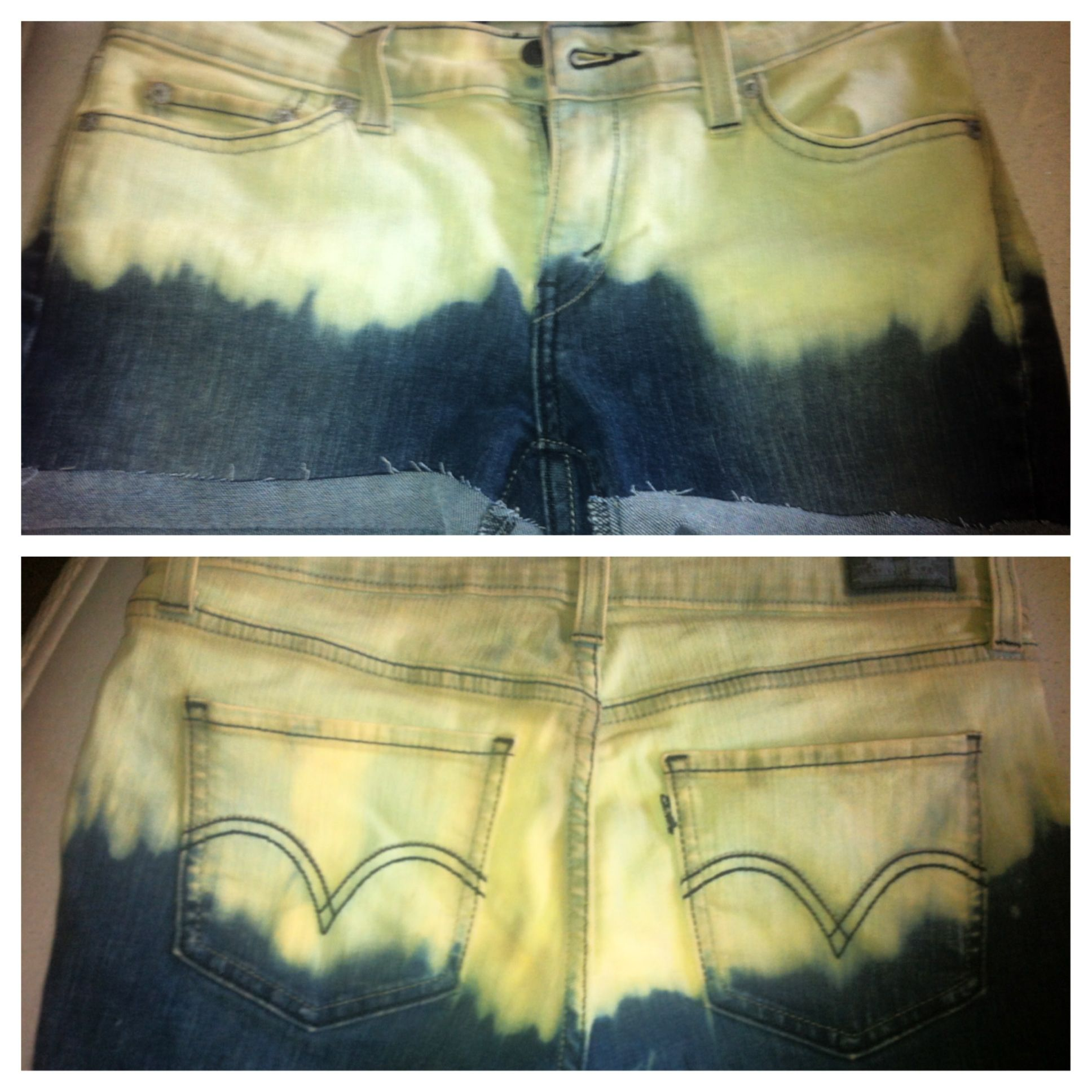 DIY Bleached Shorts | Diy shorts, Bleached shorts, Crafts ...