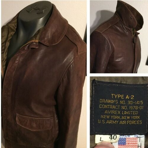 Avirex US Army Air Forces Brown Flight Bomber Jacket Type