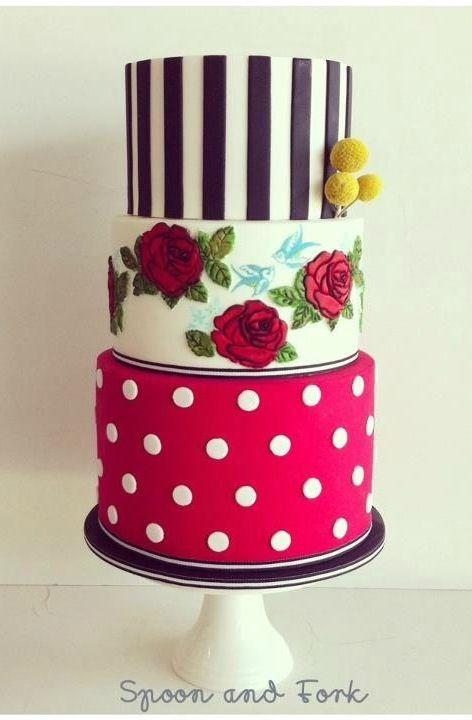 Kuchen deko rockabilly