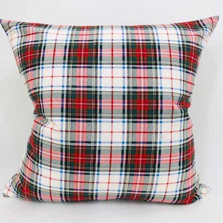 Plaid Pillow Cover, Red Plaid Pillow Cover, Tartan Plaid Pillow