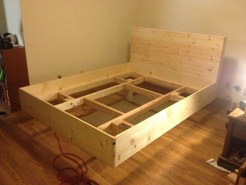 Floating Bed Floating Bed Frame Diy Bed Frame Floating Bed