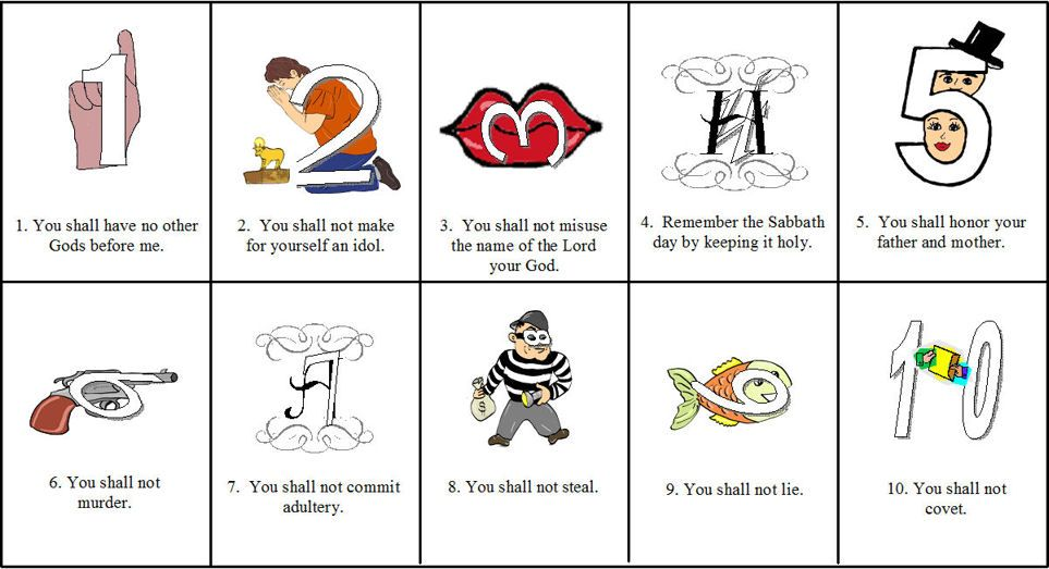 Helping Kids Remember The 10 Commandments Sunday School