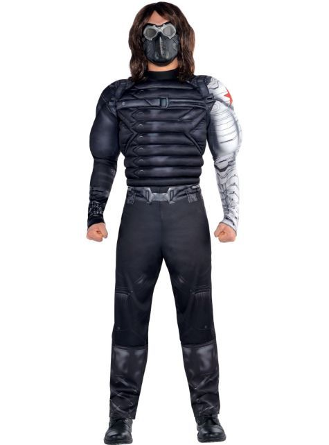 Adult Winter Soldier Muscle Costume Captain America 2