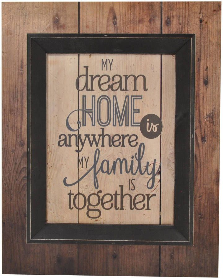etsy my dream home is anywhere my family is together framed rh pinterest com