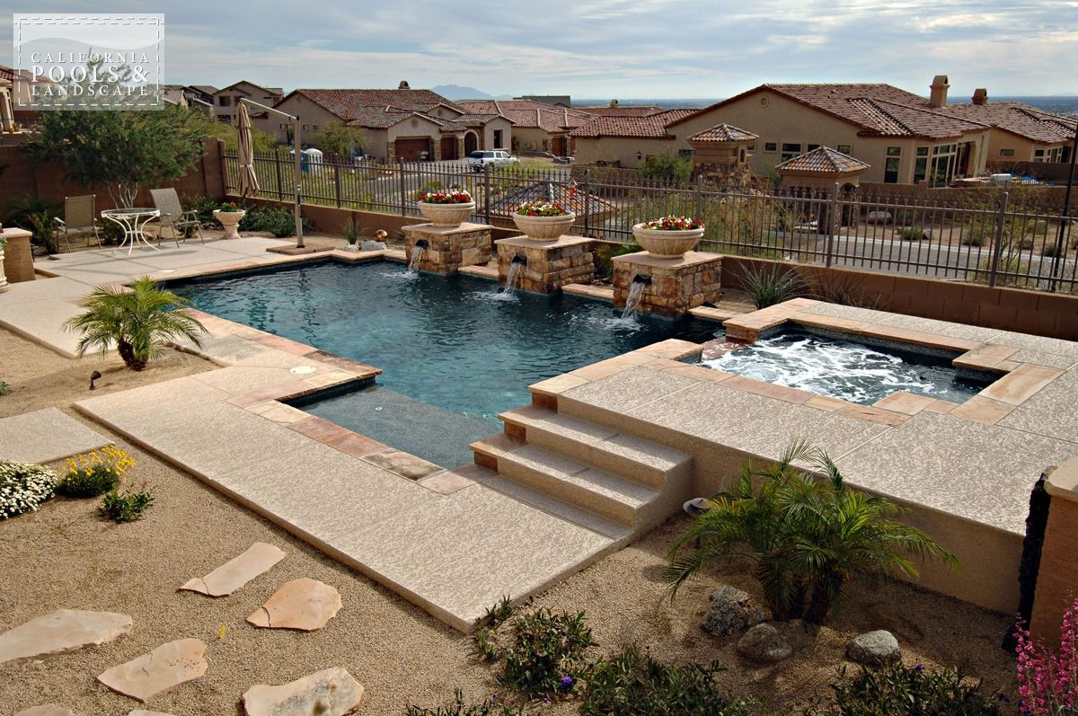 Combination Decking Decking Flagstone Modern Pool Poured