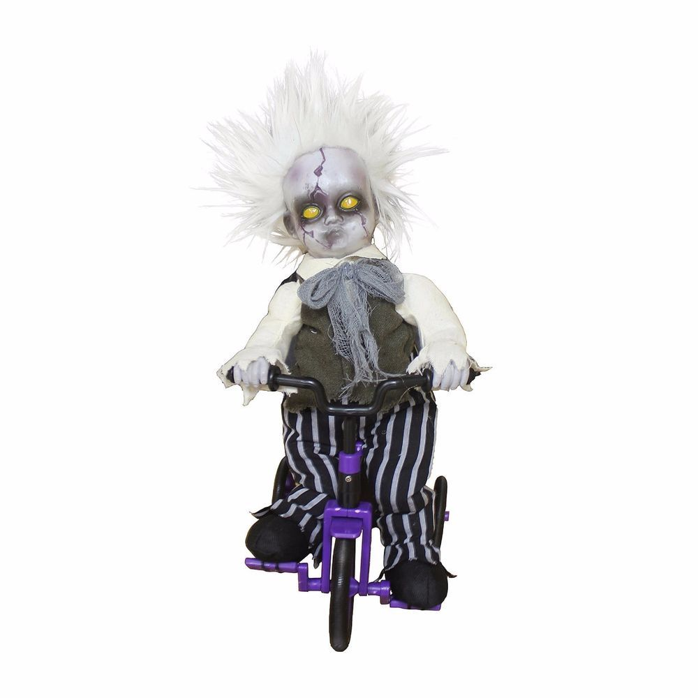 Halloween Decoration Animated Scary Zombie Baby Tricycle Creepy Voice Party  Fun