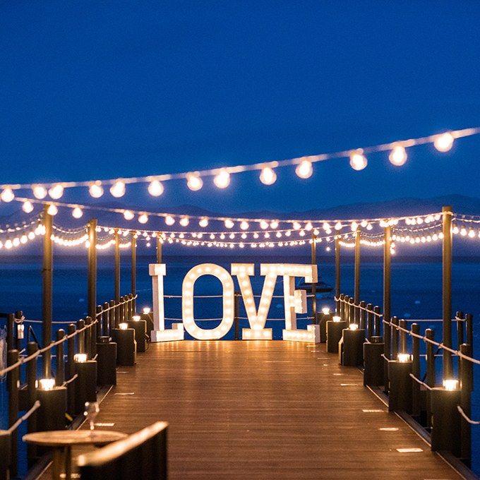 Lake Wedding Ideas: 24 Unique Wedding Lighting Ideas