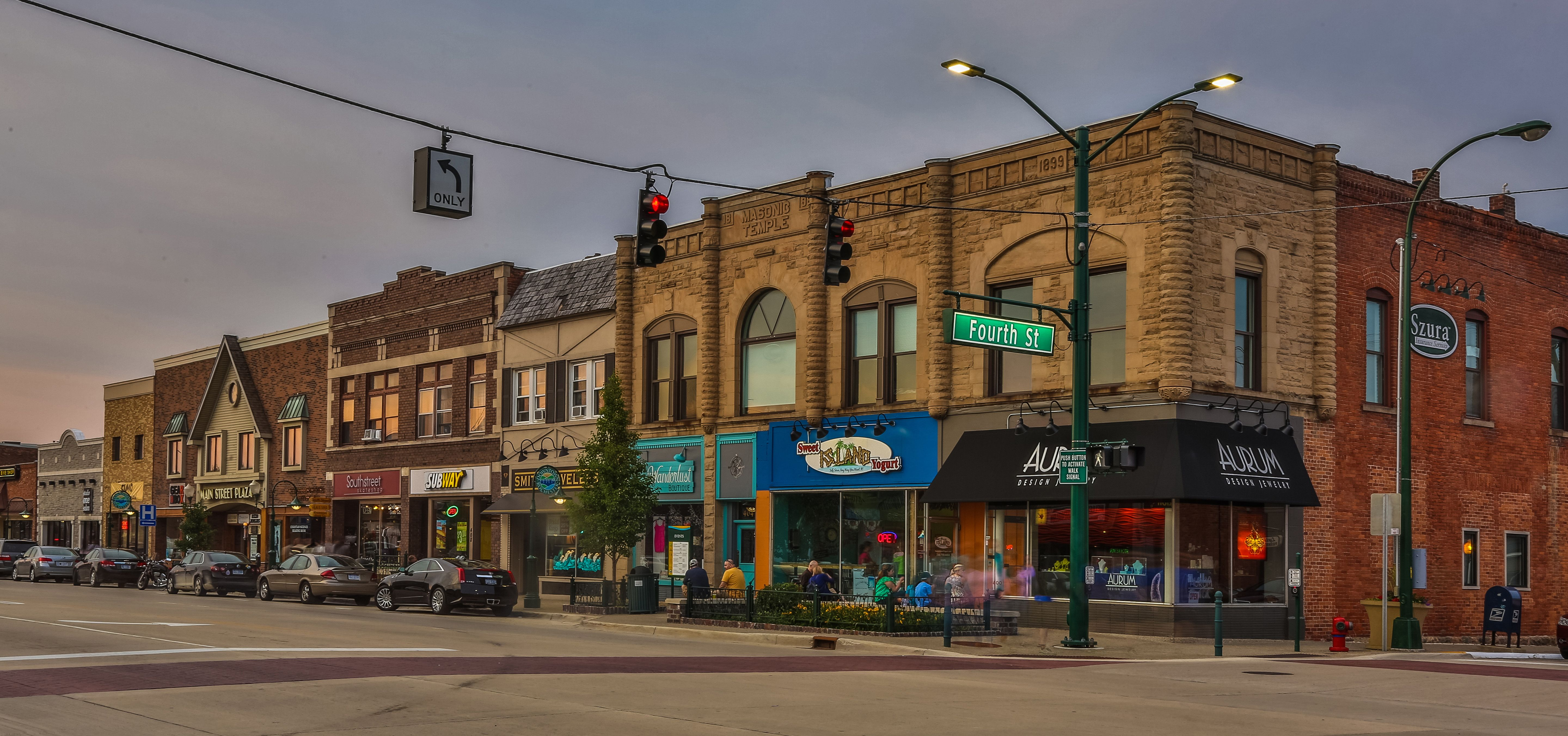 Main Street Downtown Rochester Photo Arising Images Www Arisingimages Com Royal Park Street View Street