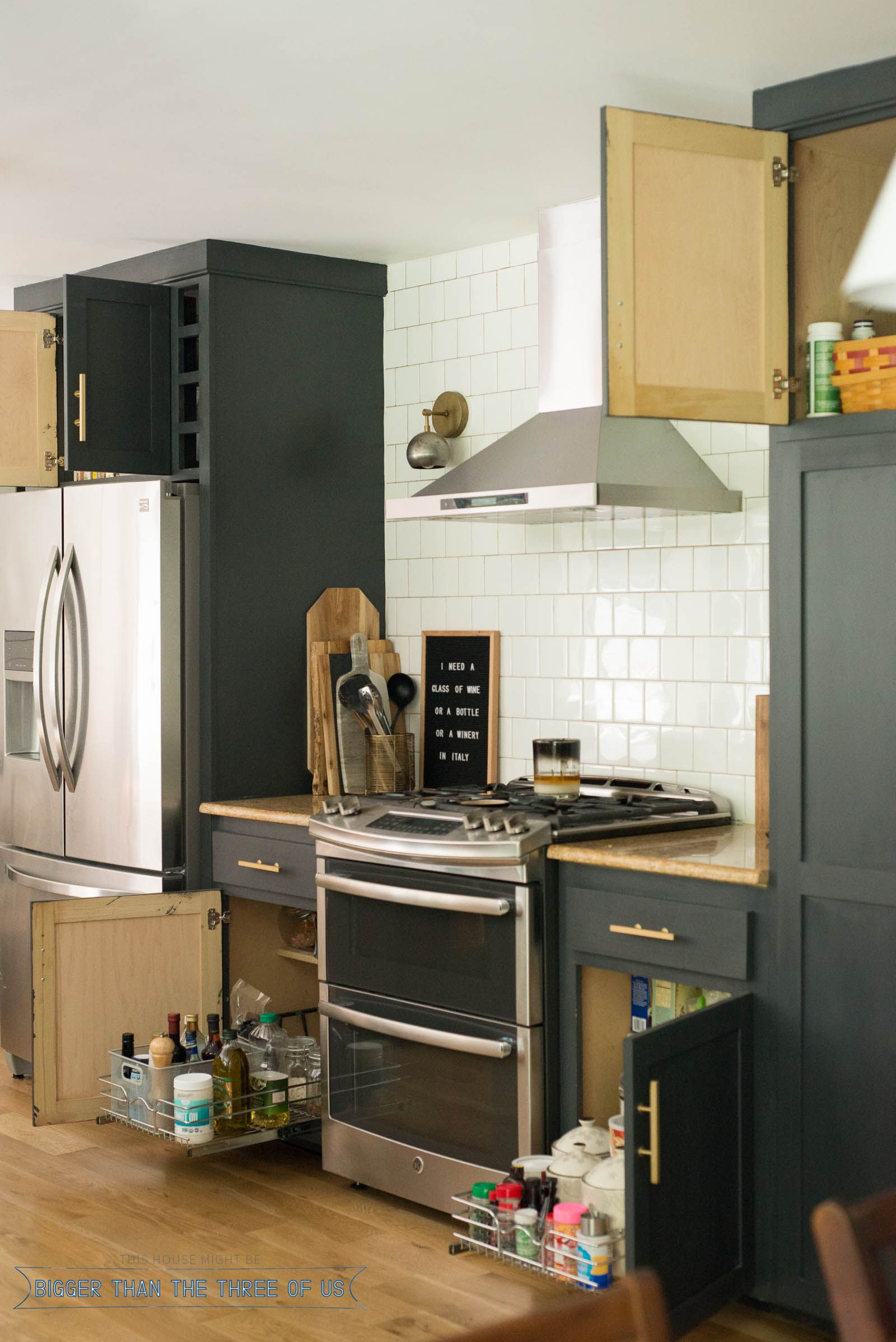 easy kitchen organizing hometalk funky junk present bloggers rh pinterest com how to install a kitchen sink base cabinet how to install a kitchen sink base cabinet