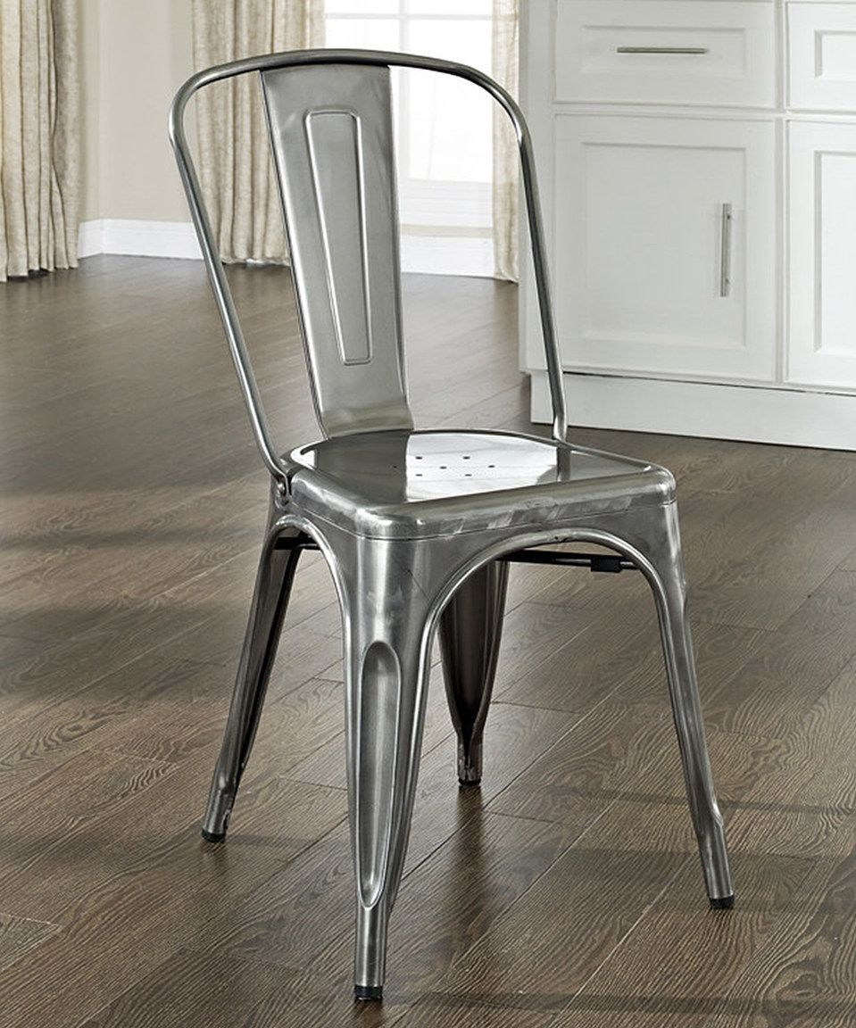 take a look at this galvanized amelia caf chair set of two today rh pinterest co uk