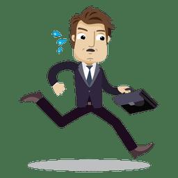 Businessman Running Late Cartoon Latest Cartoons Office Cartoon Cartoon