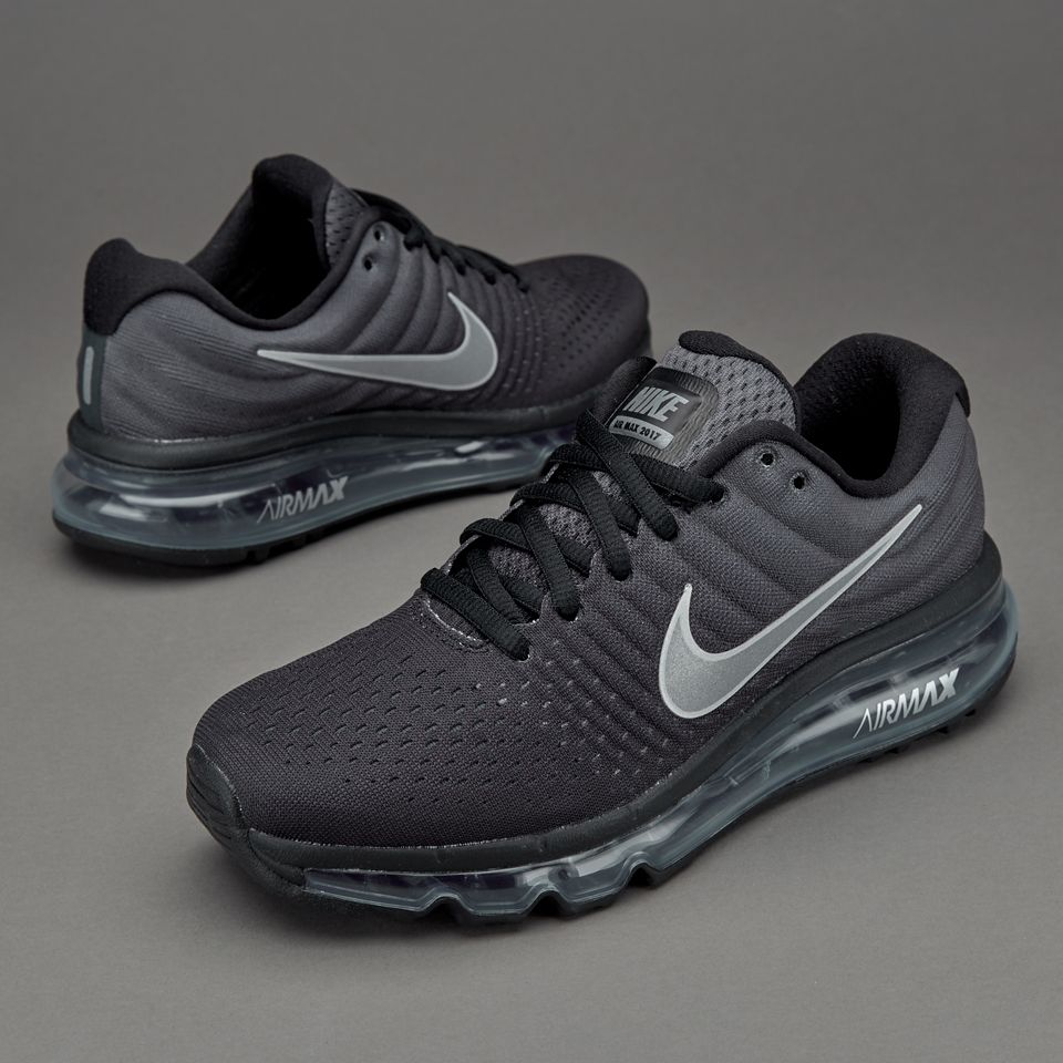 los angeles 59f35 c9f4b Nike Air Max 2017 Black Anthracite White Sports Running Shoes