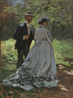 """Bazille and Camille (Study for """"Déjeuner sur l'Herbe"""") by Claude Monet, National Gallery of Art"""