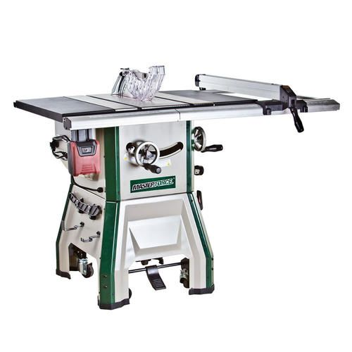 masterforce 10 in contractor table saw with mobile base rh pinterest com