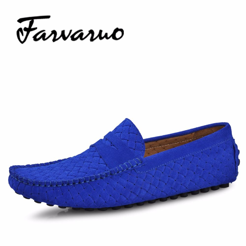 Farvarwo Brand Fashion Summer Style Soft Moccasins Men Loafers High Quality Genuine Leather Shoes Men Flats Gommino Driving Shoe