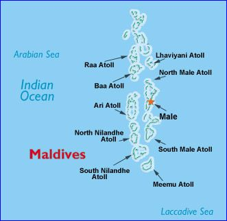 Map Of The Maldives On The World Map