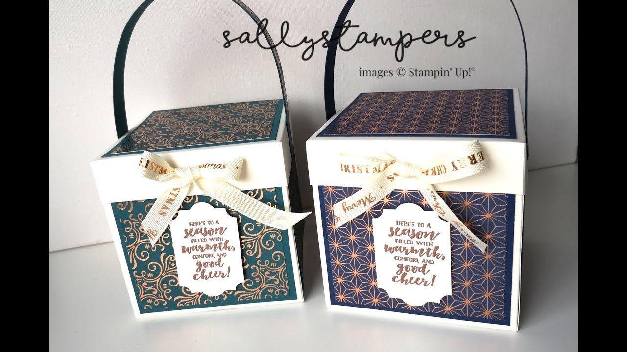 Gleaming Christmas Box Christmas box, Stampin up