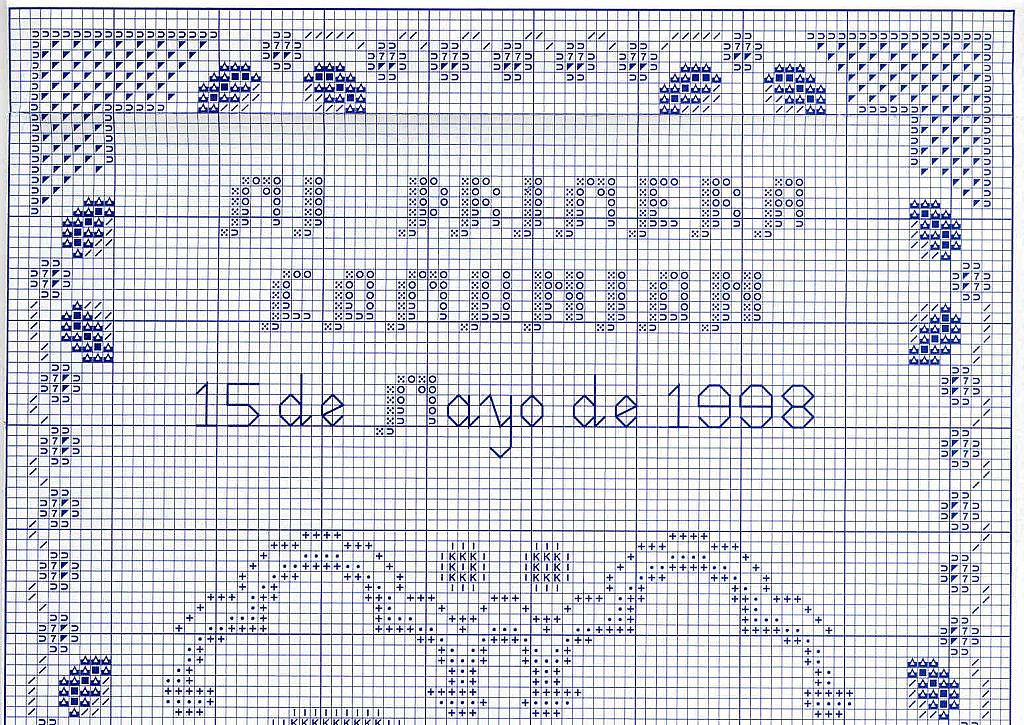 Graficos punto de cruz gratis primera comunion bautizo - Labores de punto de media ...