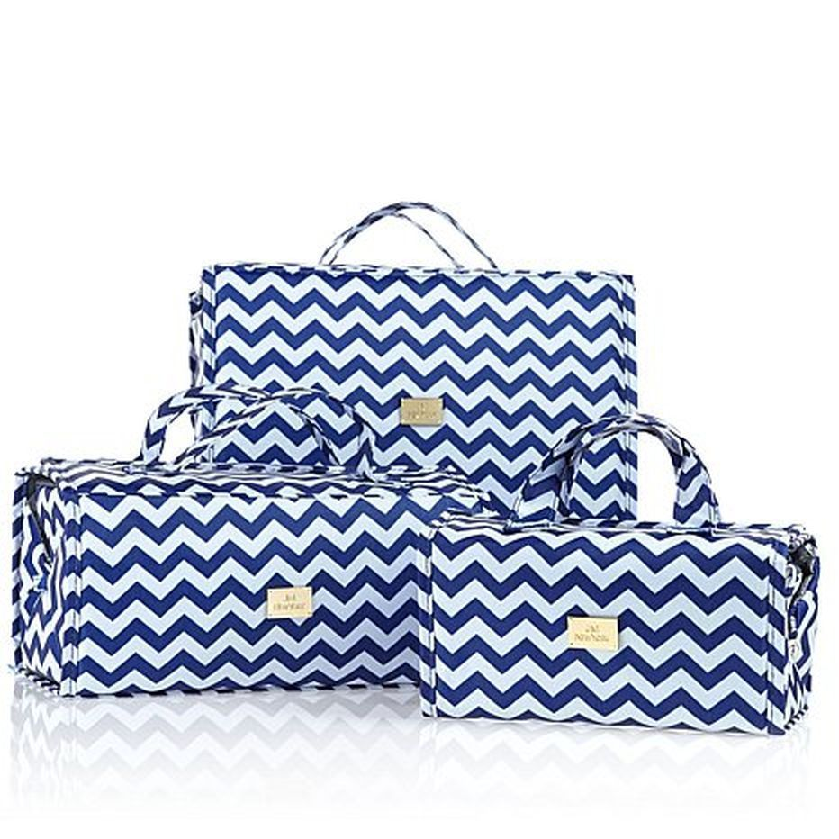 Joy Mangano Biggest and Best Better Beauty Case Set Ever Nautical