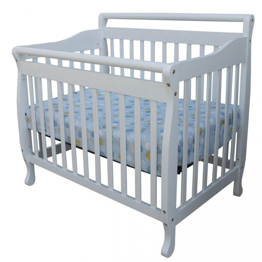 Dream On Me 3 In 1 Portable Convertible Crib In White 626 W Convertible Crib White Cribs Convertible Crib