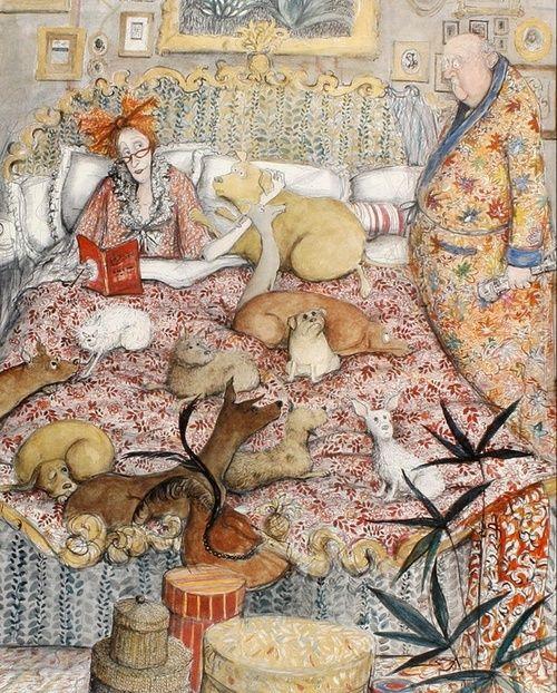 Reading very, very, very accompanied / Lectura muy,muy, muy acompañada (ilustración de Susan Macartney-Snape)
