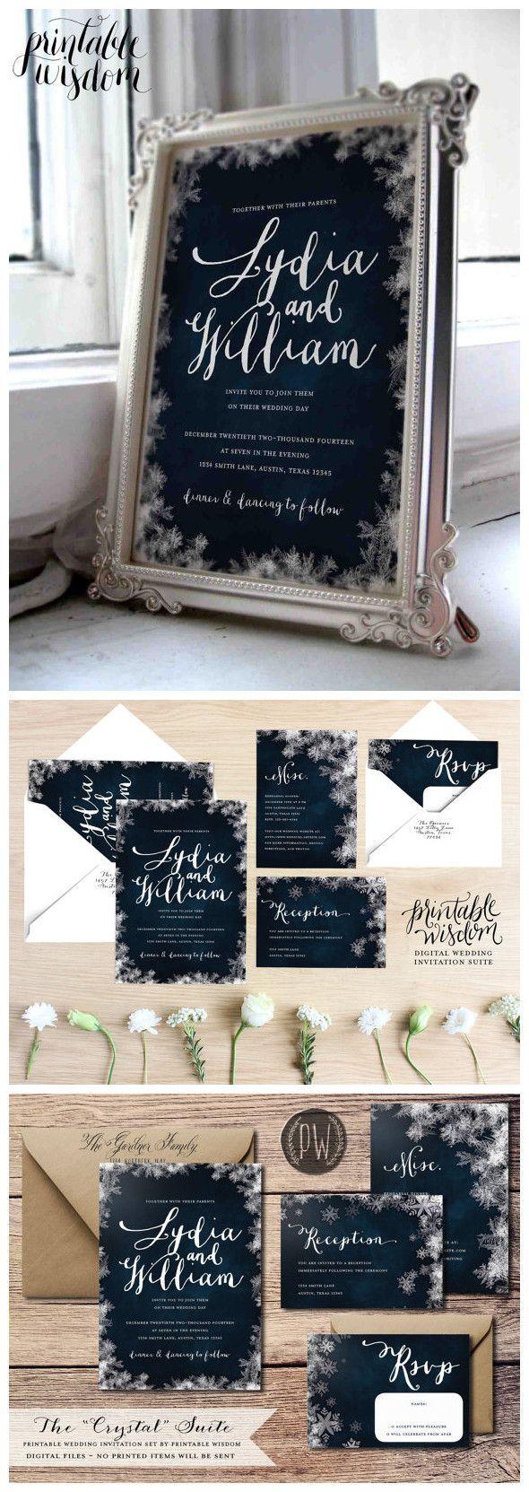 sample wording for rsvp wedding invitations%0A Winter Wedding invites    best photos