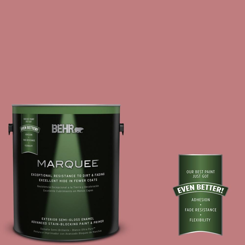 BEHR MARQUEE 1-gal. #MQ1-12 Chick Flick Semi-Gloss Enamel Exterior Paint