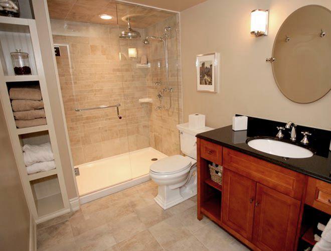 Not just a basement bathroom home interiors for easy for Finishing basement bathroom