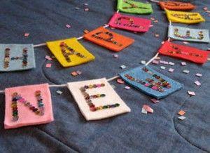 Letrero decorativo para recibir el año nuevo | Manualidades de hogar