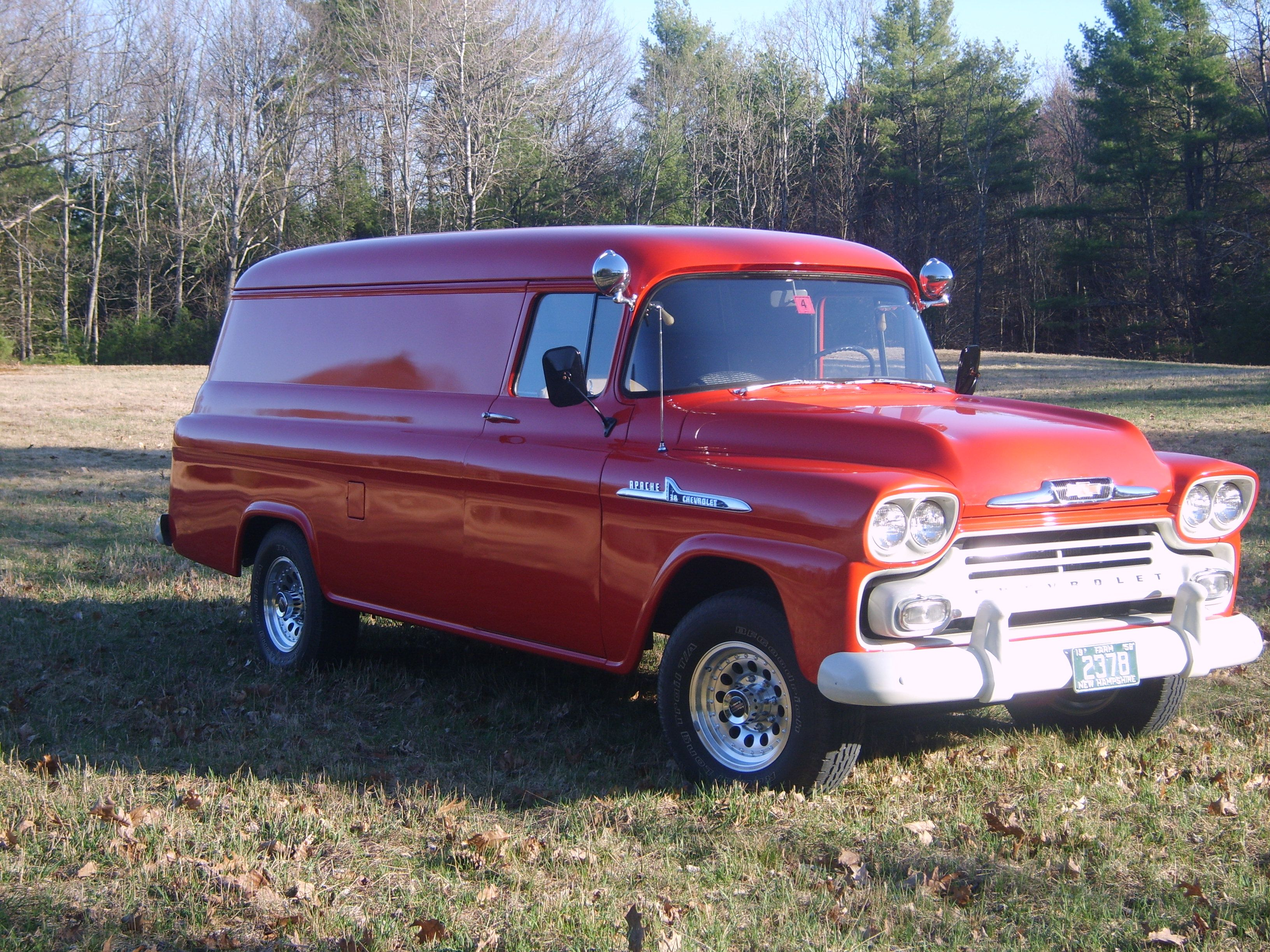 1958 Chevy Apache 38 Panel Truck 1 Ton Classic Cars Trucks