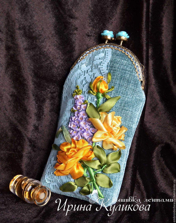 0d811001929e Купить Очечник или чехол для телефона с фермуаром вышивка лентами