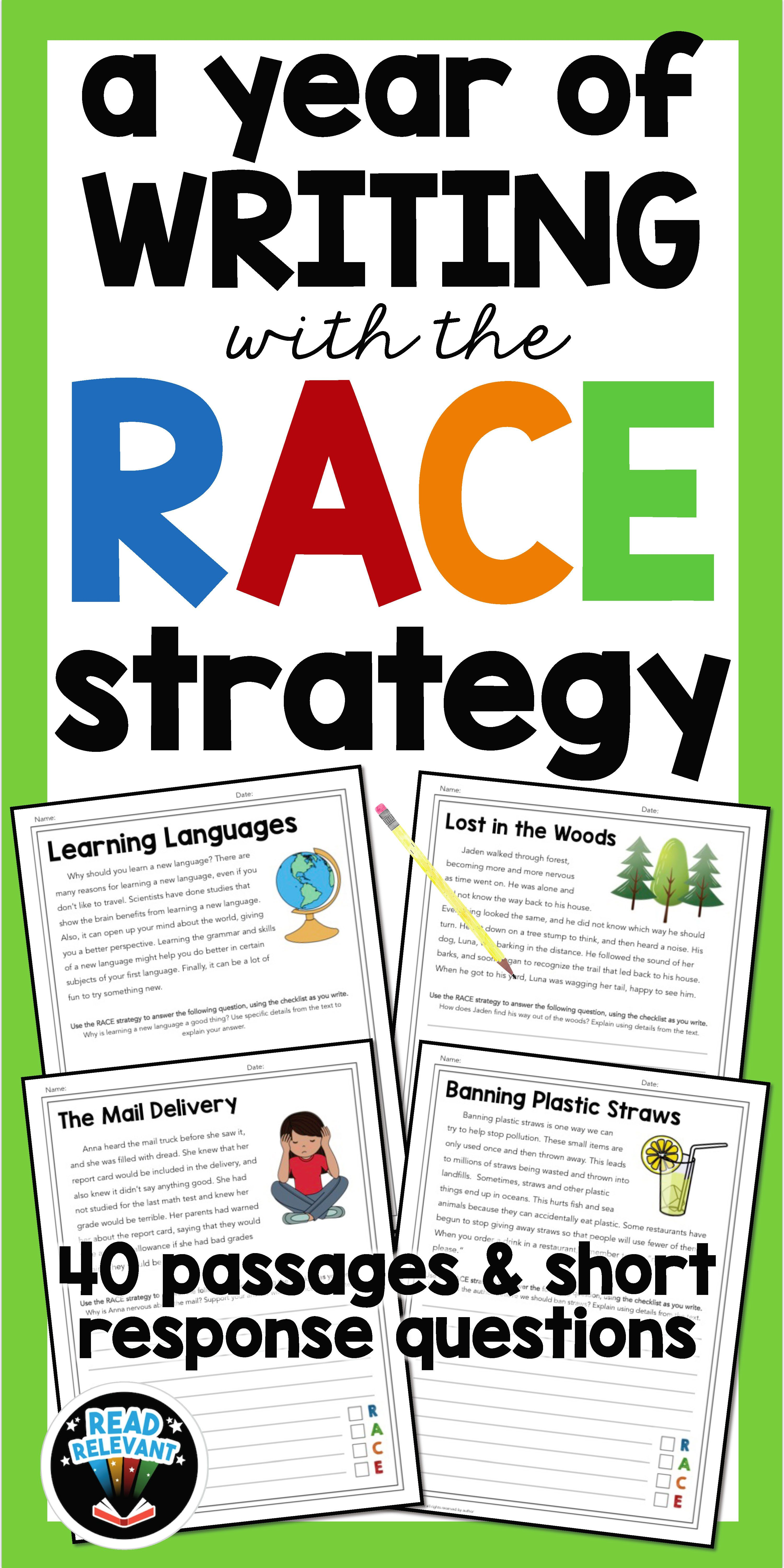 A Year Of Writing With The Race Strategy Grades 4 5 40