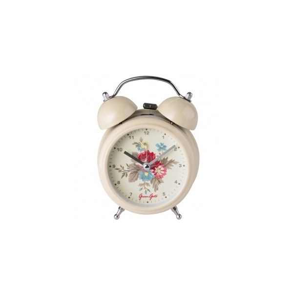 Alarm Clock Vintage Cream, Greengate Home Accessories from Berry Red (73 BRL) ❤ liked on Polyvore featuring home, home decor, clocks, fillers, decoration, other, vintage clock, vintage home accessories, greengate and vintage home decor