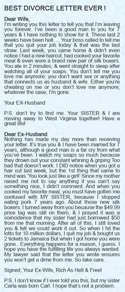 Nice Letter From Husband To Wife Nicer Letter From Wife Back To