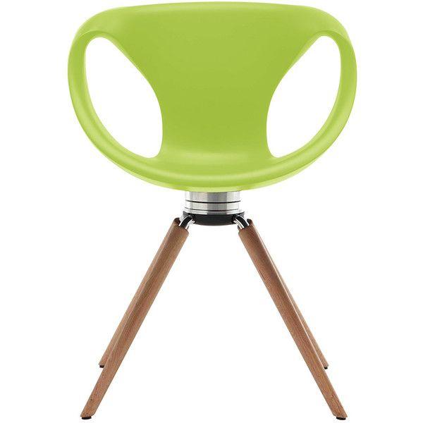 Tonon Up Chair Swivel With Oak Legs   Memory Return   Green (930 CAD)