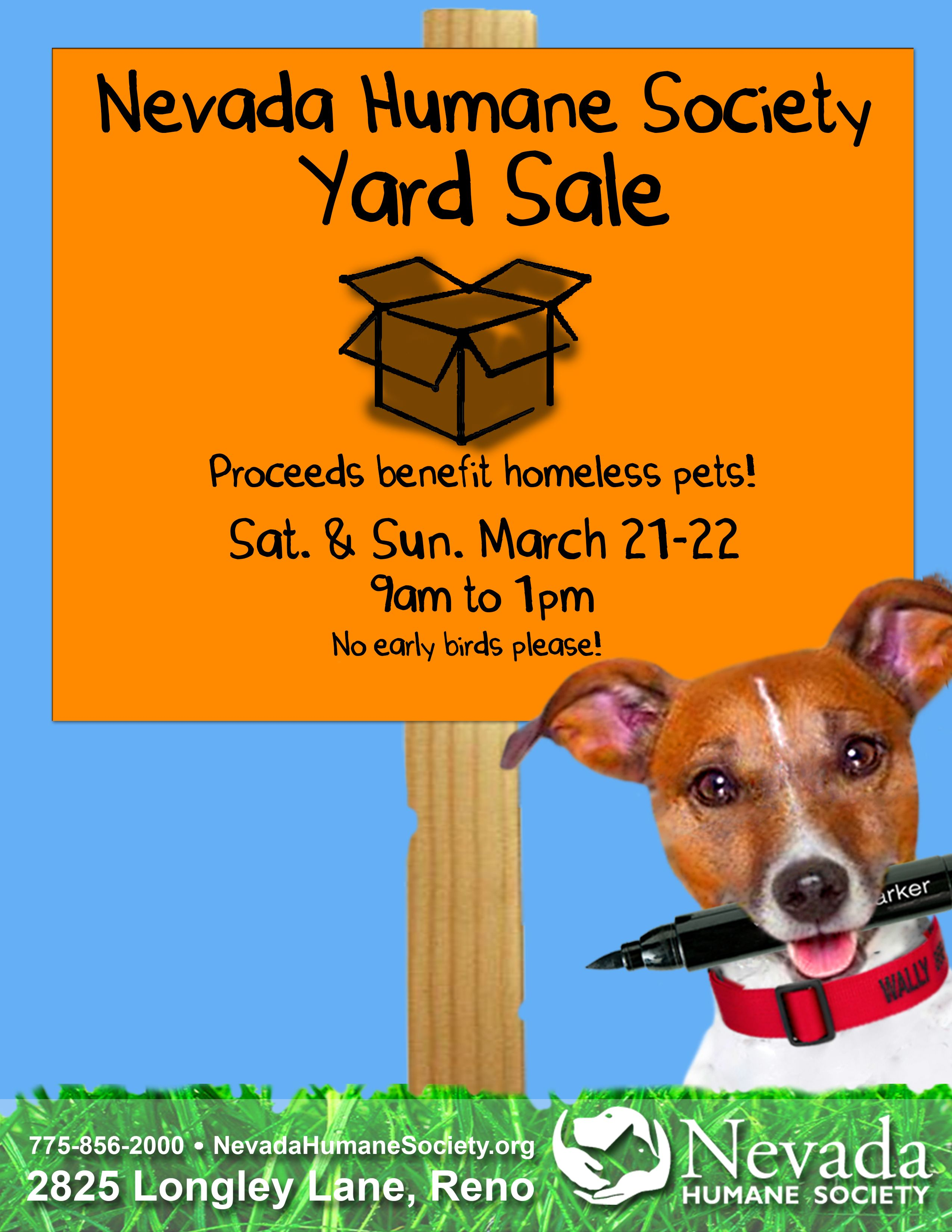 Save The Date For Nevada Humane Society S Giant Yard Sale On March