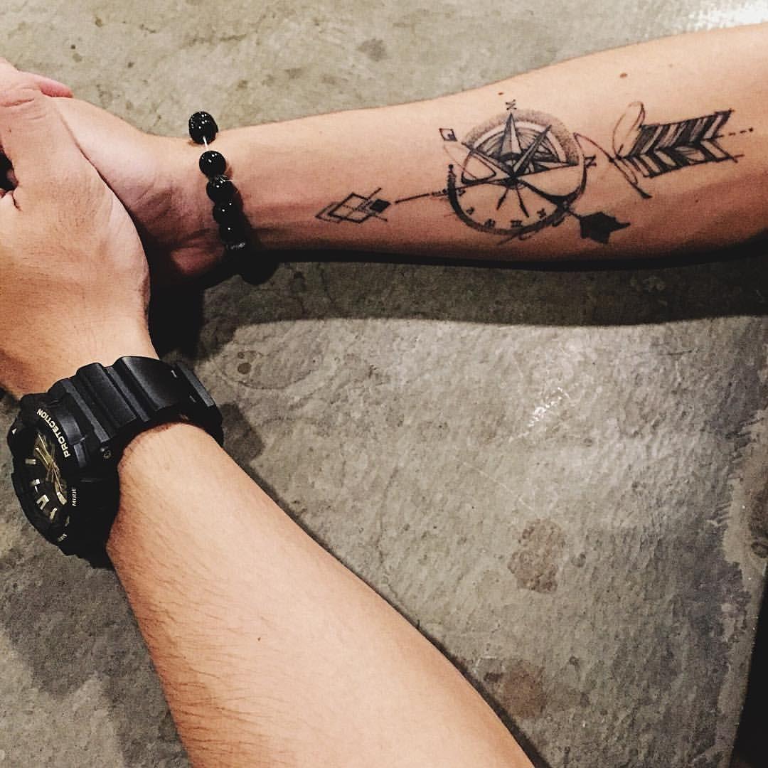 Hunt Your Dreams Amp Shoot Them Down Compass Arrow Tattoo