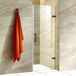 Vigo soho 28 in adjustable frameless shower door with clear glass adjustable frameless shower door with clear glass and stainless steel planetlyrics Image collections