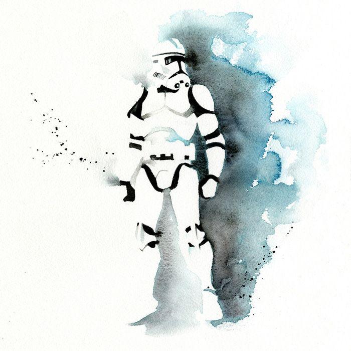4e62b56c7 Star Wars Watercolor Art | Star Wars | Star wars art, Star wars ...