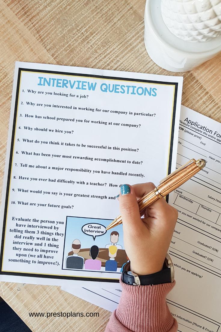 Interviews Presentation Career Job Application Activity