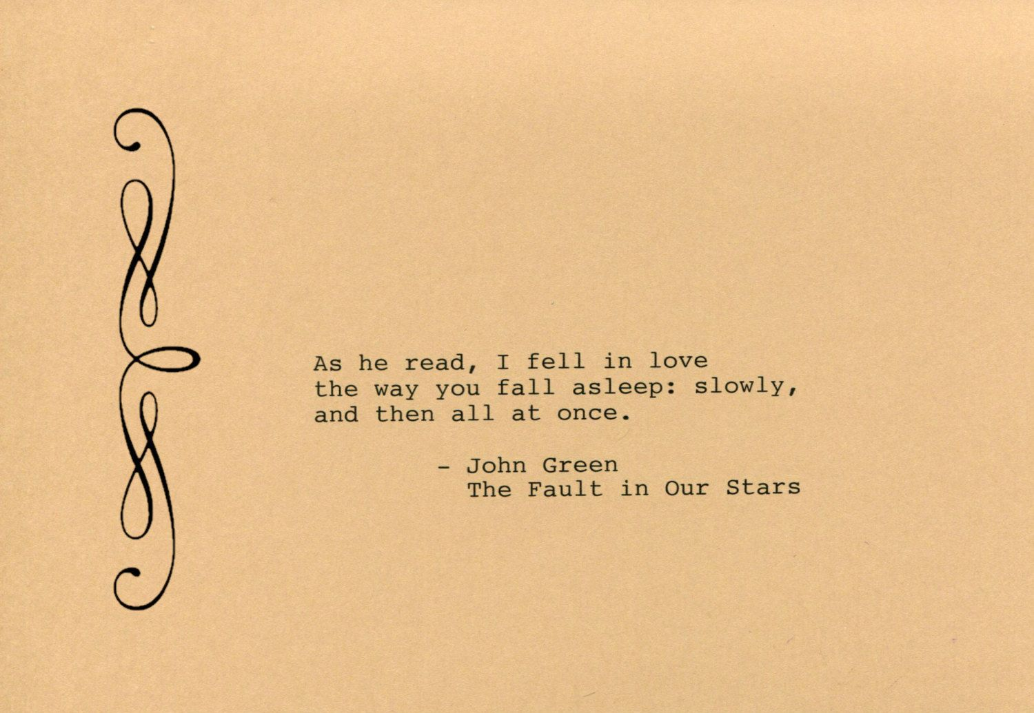 John Green Quote Made on Typewriter Art Quote Wall Art - The Fault ...